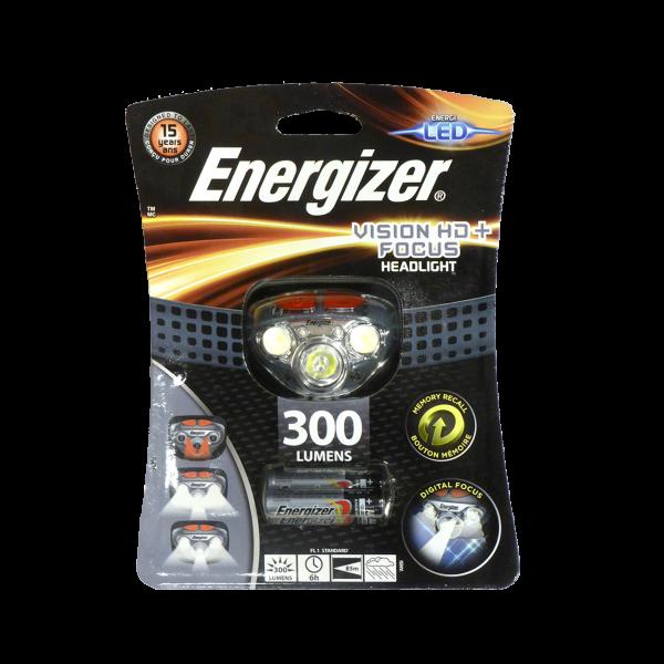 energizer hd+focus פנס ראש אנרג'ייזר