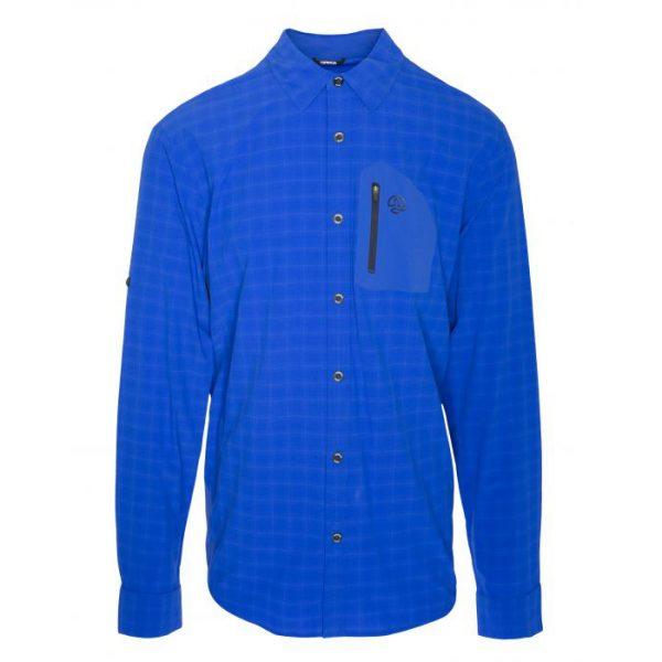 חולצה ארוכה מכופתרת Ternua Athy Long Blue